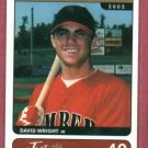 2002 Just Ifiable Minors David Wright ROOKIE New York Mets # 40