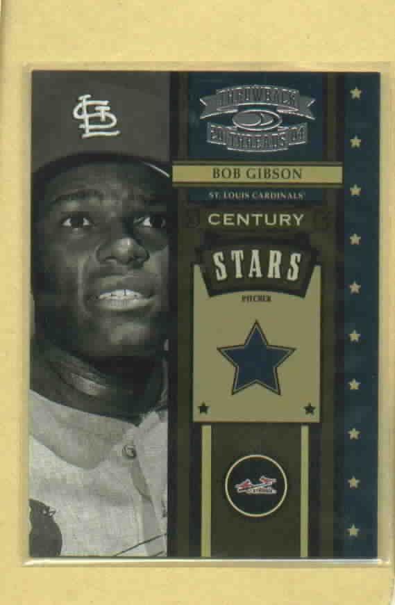 2004 Donruss Throwback Threads Century Stars Bob Gibson St Louis Cardinals # CS-8 #D / 1500