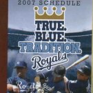 2007 Kansas City Royals Pocket Schedule Early Edition