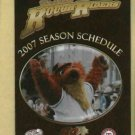 2007 Frisco Rough Riders Pocket Schedule Texas Rangers Minor League Dr Pepper