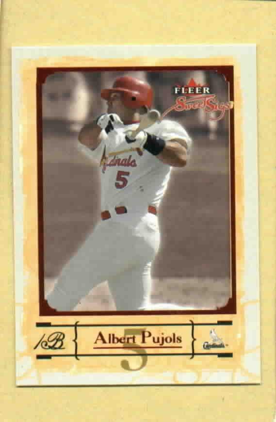 2004 Fleer Sweet Sigs Albert Pujols St Louis Cardinals # 27