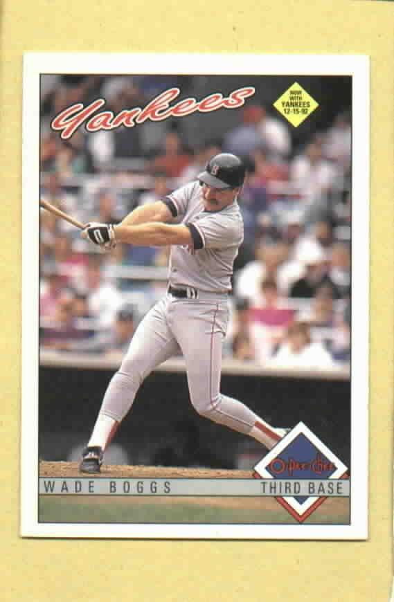 1993 O Pee Chee Wade Boggs Boston Red Sox Yankees # 196