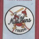 1991 Toledo Mud Hens Pocket Schedule Detroit Tigers AAA