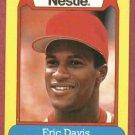 1988 Nestle Eric Davis Baseball Card Cincinnati Reds Oddball