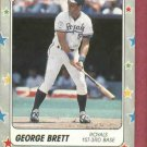 1988 Fleer Star Stickers George Brett Kansas City Royals Oddball