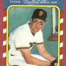 1987 Fleer Limited Edition Will Clark San Francisco Giants # 8 Oddball