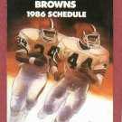 1986 Cleveland Browns Pocket Schedule