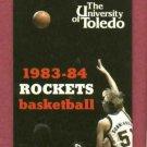1983 84 University Of Toledo Rockets Basketball Pocket Schedule
