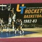 1982 83 University Of Toledo Rockets Basketball Pocket  Schedule