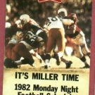 1982 Miller Beer Monday Night Football Pocket Schedule