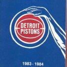 1983 84 Detroit Pistons Pocket Schedule