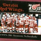 1995 96 Detroit Red Wings Pocket Schedule