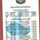1982 Toronto Argonauts Football Pocket Schedule CFL Carlsberg