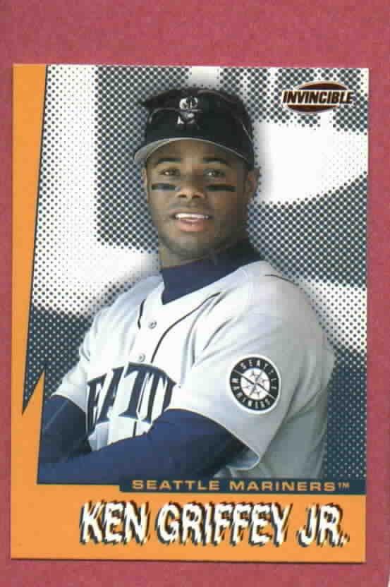 1999 Pacific Invincible Ken Griffey Jr Seattle Mariners # 17