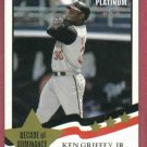 2002 Fleer Platinum Decade Of Dominance Ken Griffey Jr Cincinnati Reds # 253