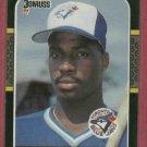 1987 Donruss Fred McGriff Toronto Blue Jays Rookie # 621