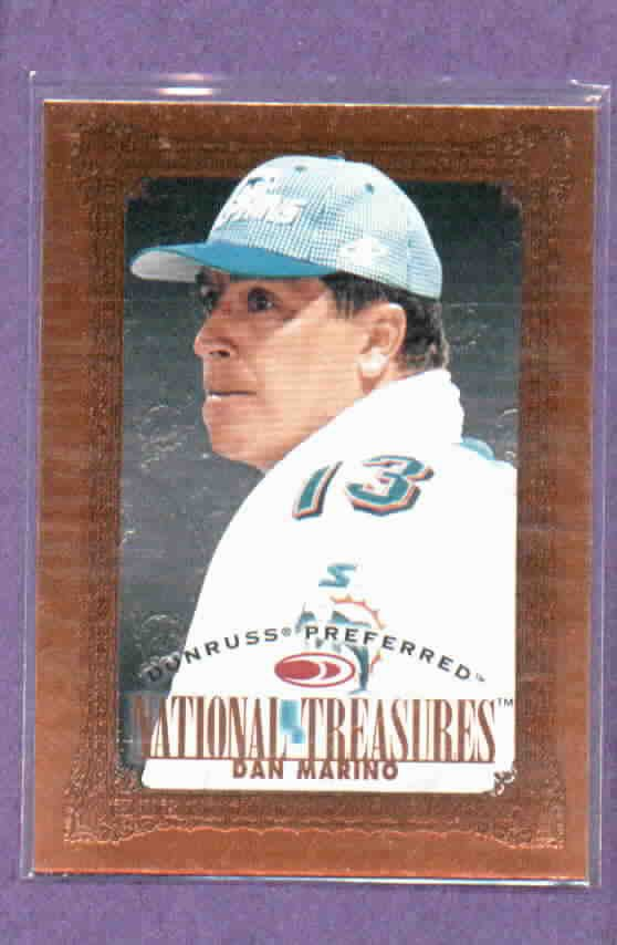 1997 Donruss Preferred National Treasures Dan Marino Miami Dolphins # 129