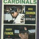 1964 Topps Cardinals Rookie Stars Mike Shannon Harry Fanok # 262
