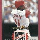 1997 Pinnacle X Press Swing For The Fences Barry Larkin Cincinnati Reds Oddball