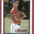 1991 Topps Chipper Jones Atlanta Braves Rookie # 333