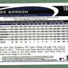 2012 Topps Dee Gordon ERROR NO SECOND BASE Los Angeles Dodgers # 161