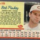 1962 Post Bob Purkey Cincinnati Reds # 123