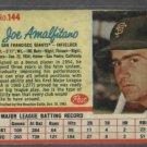 1962 Post Joe Amalfitano San Francisco Giants # 144