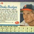 1962 Post Rocky Bridges Los Angeles Angels # 75