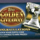 2012 Topps Golden Giveaway Roberto Clemente Pittsburgh Pirates Unredeemed
