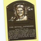 Baseball Hall Of Fame Postcard Carl Yastrzemski Boston Red Sox