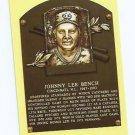 Baseball Hall Of Fame Postcard Johnny Bench Cincinnati Reds