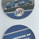Miller Lite Racing Beer Coaster Nascar