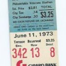 June 11 1973 Philidelphia Phillies V Los Angeles Dodgers Ticket Stub Tommy John Win
