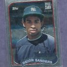2001 Topps Chrome Traded 1989 Reprint Deion Sanders New York Yankees Rookie # 34