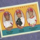 2005 Fleer Trio Prospects Yadier Molina Adam Wainwright ROOKIE St Louis Cardinals # 327