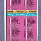 1976 Topps Baseball Card Checklist # 119