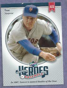 2002 Upper Deck Heroes Of Baseball Tom Seaver New York Mets Reds # TS1