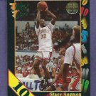 1992 Wild Card Stacey Augmon 10 STRIPE UNLV #47
