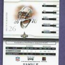 2002 Playoff Prime Signature Deuce McCallister Silver SAMPLE New Orleans Saints