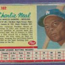 1962 Post Cereal Charlie Neal Los Angeles Dodgers # 102