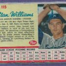 1962 Post Cereal Stan Williams Los Angeles Dodgers # 115