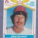 1987 Ralston Purina Mike Schmidt Philidelphia Phillies Oddball # 14