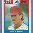 1989 Topps Capn Crunch Cereal Mike Schmidt Philidelphia Phillies Oddball # 16