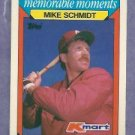 1988 Topps K Mart Mike Schmidt Philidelphia Phillies Oddball # 25