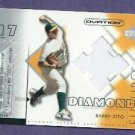 2002 Upper Deck Ovation Diamond Futures Barry Zito Jersey Oakland A's Giants # DF-BZ