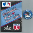1990 Baseball Star Buttons Pin Kevin Mitchell San Francisco Giants Oddball