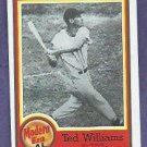 1987 Nestle All Time Dream Team Ted Williams Boston Red Sox # 18 Oddball
