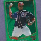 2013 Topps Baseball Emerald Edwin Jackson Washington Nationals # 233 Insert