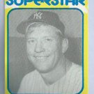 1980 Mickey Mantle Superstar Card New York Yankees Oddball # 30