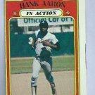 1972 Topps Hank Aaron In Action Atlanta Braves # 300
